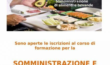 Aperte iscrizioni Corso Somministrazione alimenti e bevande